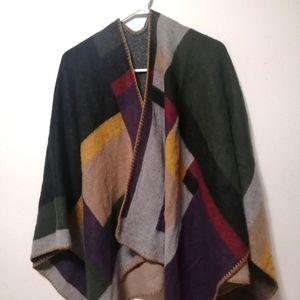 Bluenotes one size shawl cape multicolor